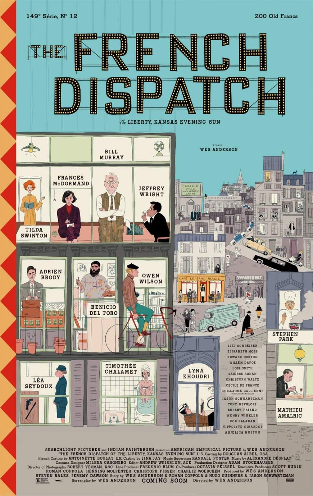 french-dispatch-film-wes-anderson-locandina