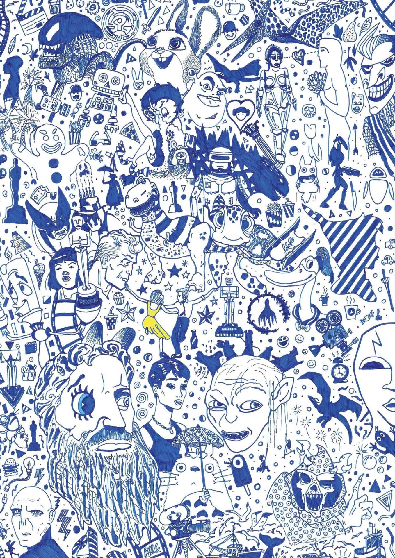 Carlo Maria Rabai - Blue Carpet (2017)