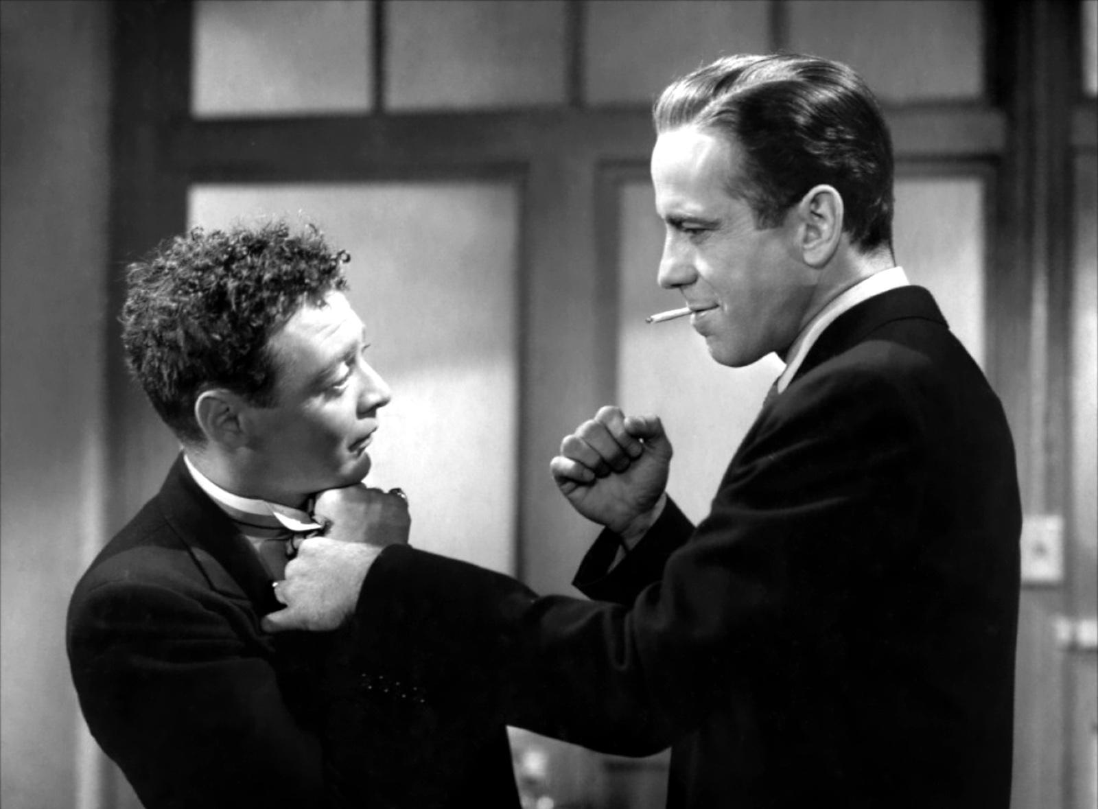 Peter Lorre e Humphrey Bogart mistero del falco john huston